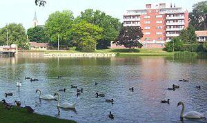 Avon River (Ontario) - Lake Victoria, in Stratford, part of the Avon River