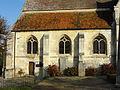 Avrechy (60), église Saint-Lucien, bas-côté sud.JPG