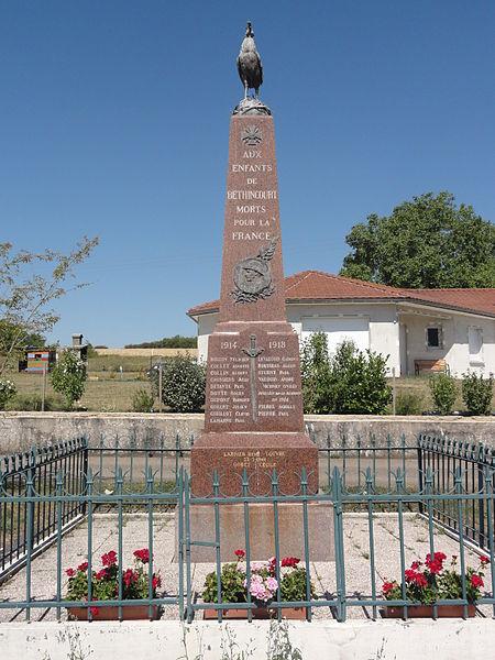 Béthincourt (Meuse) monument aux morts
