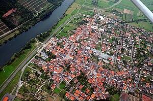 Bürgstadt - Aerial view of Bürgstadt (2008)
