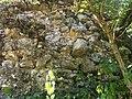 BB Burg Blumberg (Futtermauer des Halsgrabens).JPG