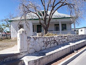 National Register of Historic Places listings in Socorro County, New Mexico - Image: Baca House at 201 School of Mines Rd., Socorro, NM 87801 (corner of Terry St.)