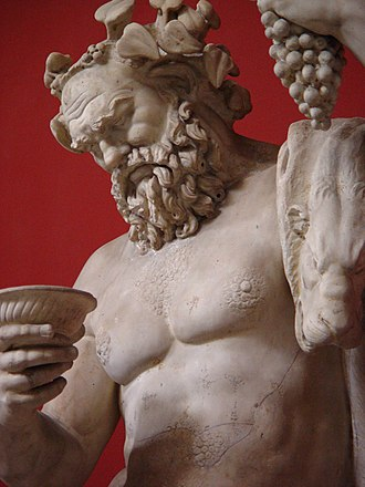 Silenus - Statue of Silenus. Rome, Vatican Museums, Pius-Clementine Museum, Room of the Muses