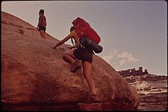 Backpacking in the Maze, a Wild and Rugged Region in the Heart of the Canyonlands, 05-1972 (3814166707).jpg