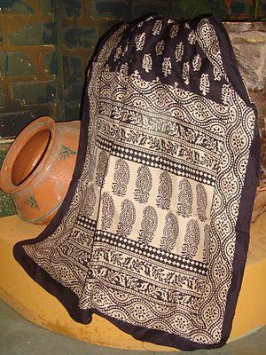 Bagh Prints of Madhya Pradesh - Bagh print silk stole