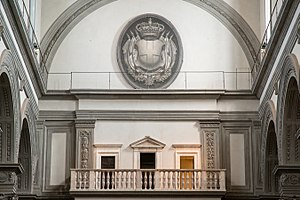San Lorenzo, Florence - The balcony in the basilica