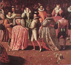 Catherine de' Medici's court festivals -  Ball at the Court of Henri III  (detail), Franco-Flemish school, c. 1582.