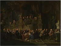 Balthasar Van den Bossche - The reception of Jan Karel de Cordes at the guild hall.jpg