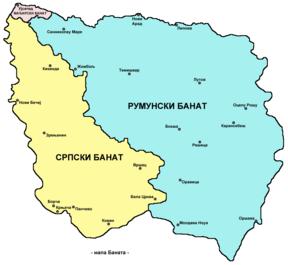 mapa srbije i rumunije Banat — Vikipedija, slobodna enciklopedija mapa srbije i rumunije