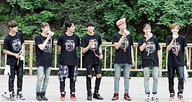 Bangtan Boys at fan meeting 140824.jpg