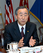 Secretary-General Ban Ki-moon.