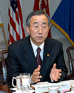Ban Ki-moon, März 2004