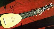 A baroque- or classical-era lute.
