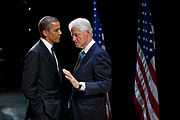 Barack Obama kaj William J. Clinton
