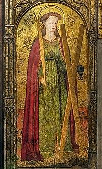Barcelona Cathedral Interior - Saint Eulalia of Barcelona by Pedro García de Benavarre.jpg
