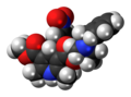 Barnidipine molecule spacefill.png