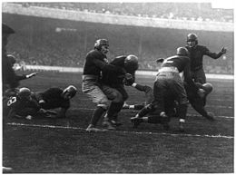 Red Barron scoring a touchdown