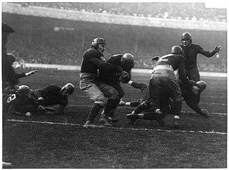 1921 Georgia Tech Golden Tornado football team - Barron's touchdown against Penn State