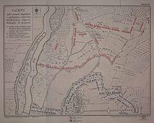 Disegno schematico della battaglia di Luzzara