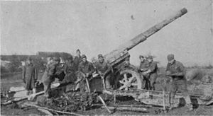 Canon de 155mm GPF - US gun and crew, France 1918