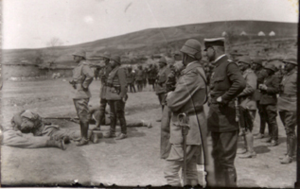 Battle of Sarikamis Enver Feldmann inspection 1914.png