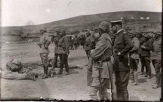Third Army (Ottoman Empire) - Battle of Sarikamis Enver Feldmann inspection 1914.png