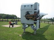 Battleship gun - fort nelson