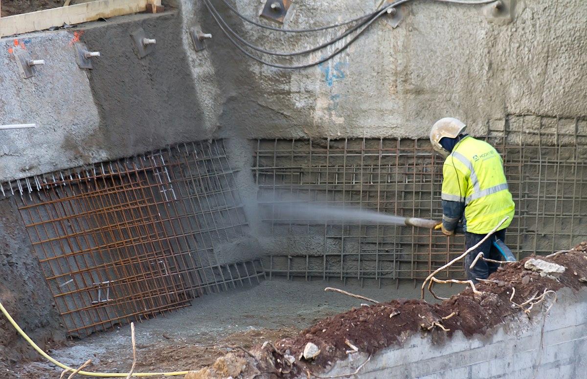 напыление бетона