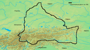 Duchy of Bavaria - Bavaria about 788