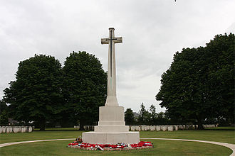 Reginald Blomfield - The Cross of Sacrifice in Bayeux War Cemetery in Normandy