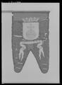 Begravningsbanér med stång, Uppland, fört vid Karl X Gustavs begravningståg1660 - Livrustkammaren - 61779.tif