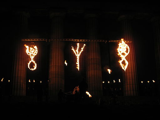 Beltane on Calton Hill by Bruce McAdam