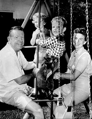 Ben Alexander (actor) - Alexander and his family in 1961, pictured are his daughter, Lesley, his son, Bradford, and his wife, Lesley.