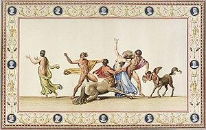 Hippodamia (wife of Pirithous) - Benna Smuglewicz Rape of Hippodamia