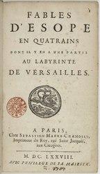 Isaac de Benserade: Fables d'Ésope en quatrains