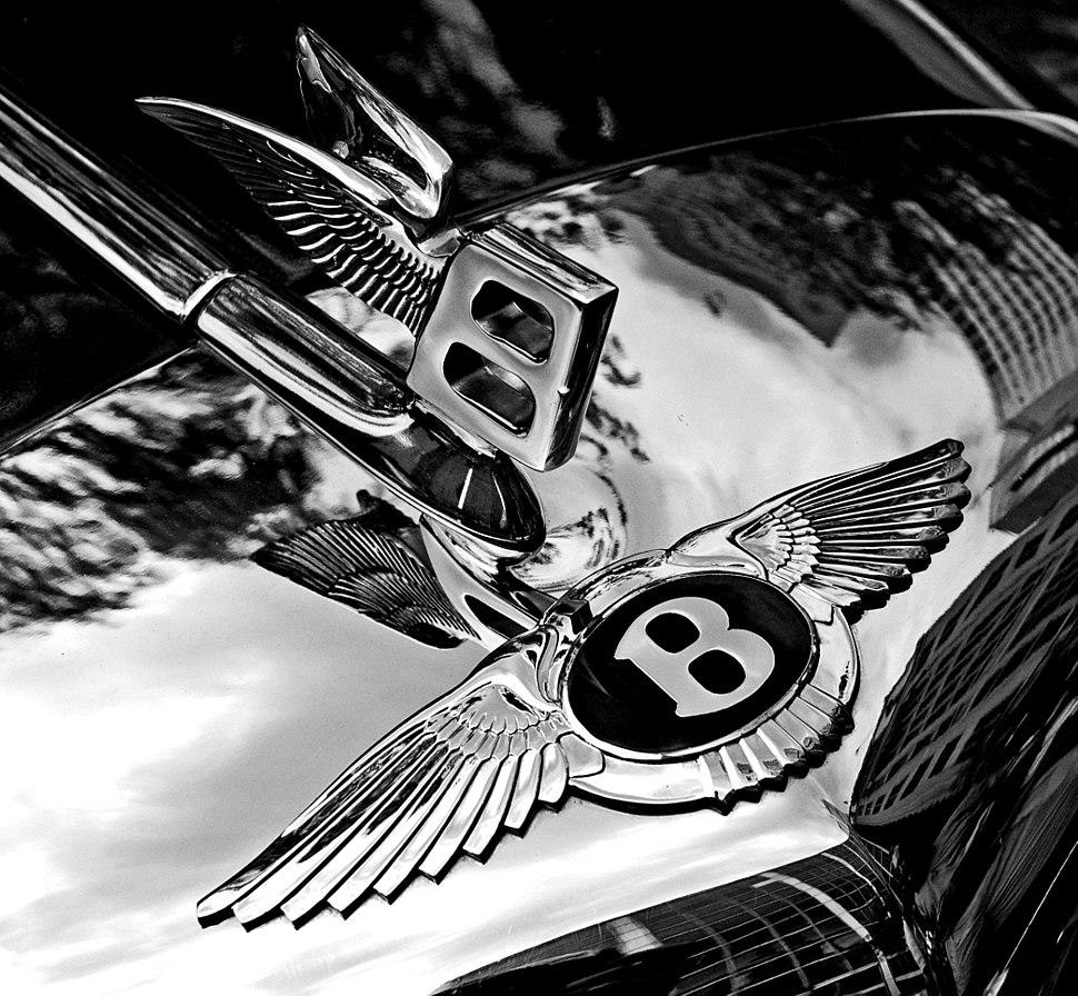 Bentley badge and hood ornament-BW