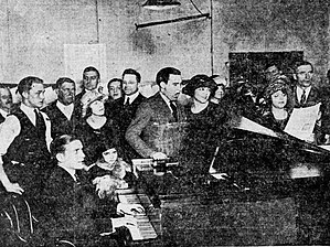 KZQZ - Participants at a February 9, 1922 radio broadcast from The Benwood Company's second floor studio, made in cooperation with the St. Louis Star newspaper.