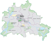 The location of Mitte in Berlin.