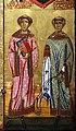 Berlinghiero berlinghieri, madonna col bambino e santi, lucca, 1230-40 ca. 05 lorenzo e stefano.jpg