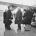 Bezoek President De Gaulle aan Nederland. Luns, De Gaulle en mevrouw De Gaulle, Bestanddeelnr 914-9321.jpg