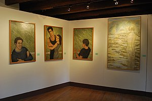 Helen Bickham - Paintings at the Valle de Bravo exhibit in 2012