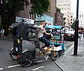 Bicycle rickshaw in Longacre - geograph.org.uk - 522830.jpg