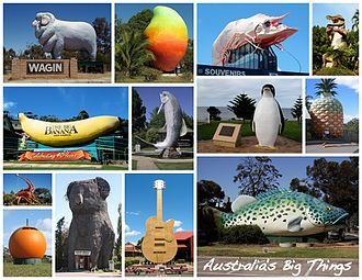 Australia's big things - A selection of Australia's big things