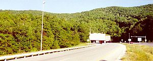 Interstate 77 - Northbound at Big Walker Mountain Tunnel, in Virginia