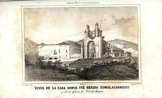 Tomás de Zumalacárregui - Location where Zumalacárregui suffered his fatal wound