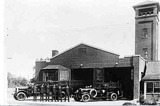 Toronto Fire Services - A fire hall on Birchmount Road, which was used by the Scarborough Fire Department until its amalgamation with other fire services in Toronto.