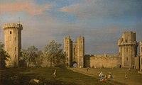 Birmingham Museum and Art Gallery - Warwick Castle, the East Front from the Courtyard - Canaletto.jpg