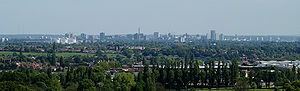 Birmingham panorama from the Lickey Hills