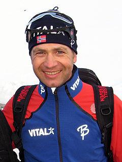 Ole Einar Bjørndalen Norwegian biathlete