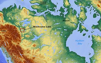 Blackwater Lake - Image: Blackwater Lake Northwest Territories Canada locator 01